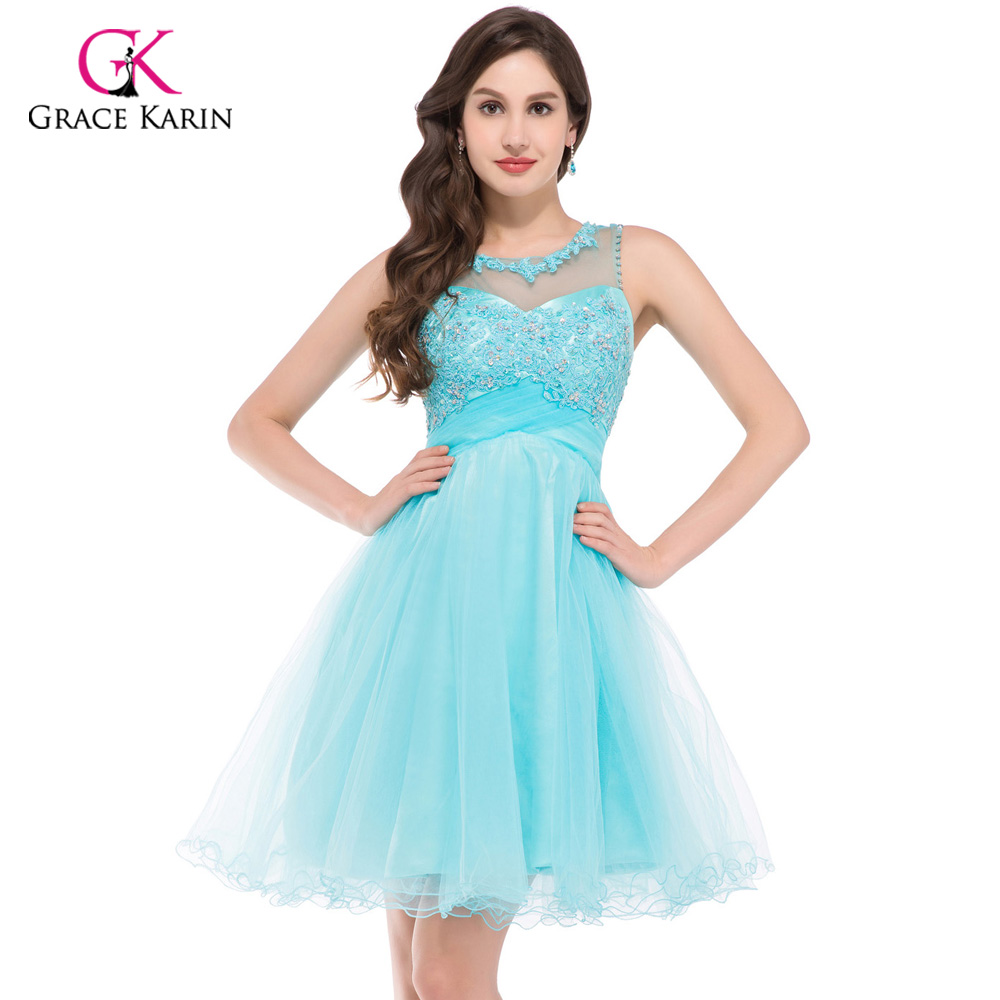 Prom Dress Grace Karin Sexy 2018 Sleeveless Blue Pink Open Back Ball ...