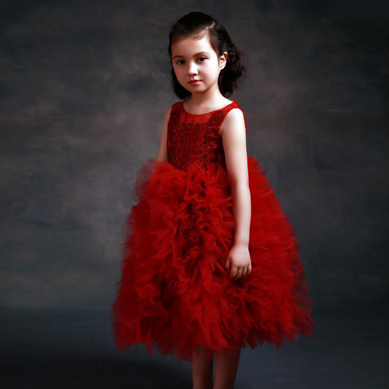 цена на A-Line Flower Girls Dresses for Party and Wedding Tulle First Communion Dresses for Girls Lace Mother Daughter Dresses For Girls