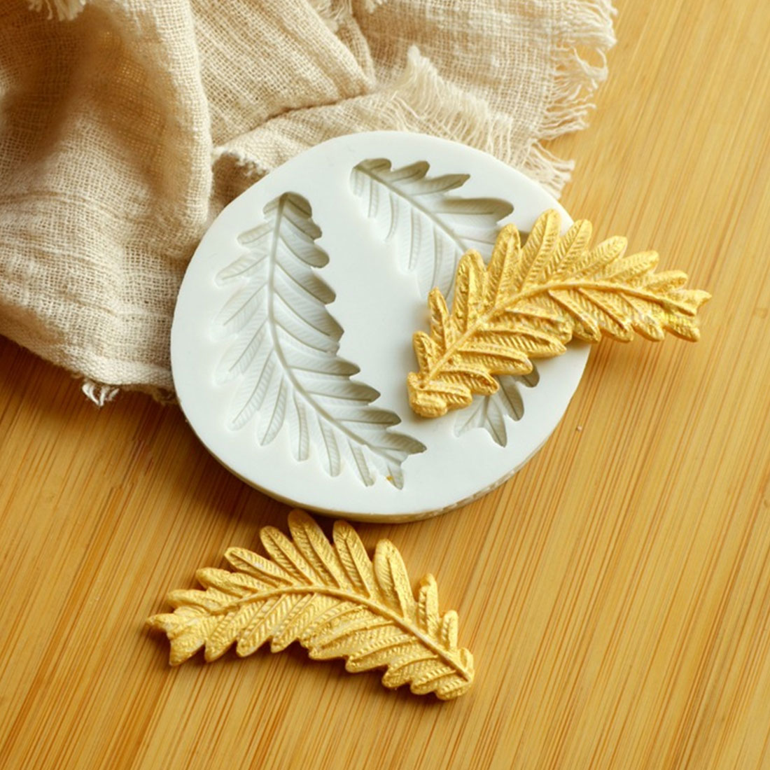 Home Leaves Seaweed Olive Branch Flower Petal Sugarcraft Silicone ...