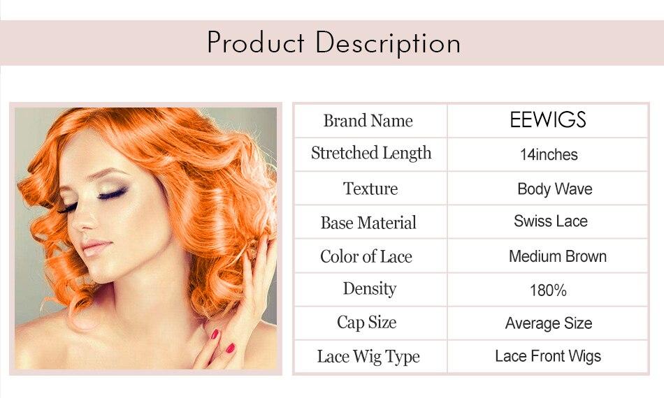 Pelucas cortas Bob Peluca de Color naranja pelucas sintéticas peluca ... 5b5d035b39c