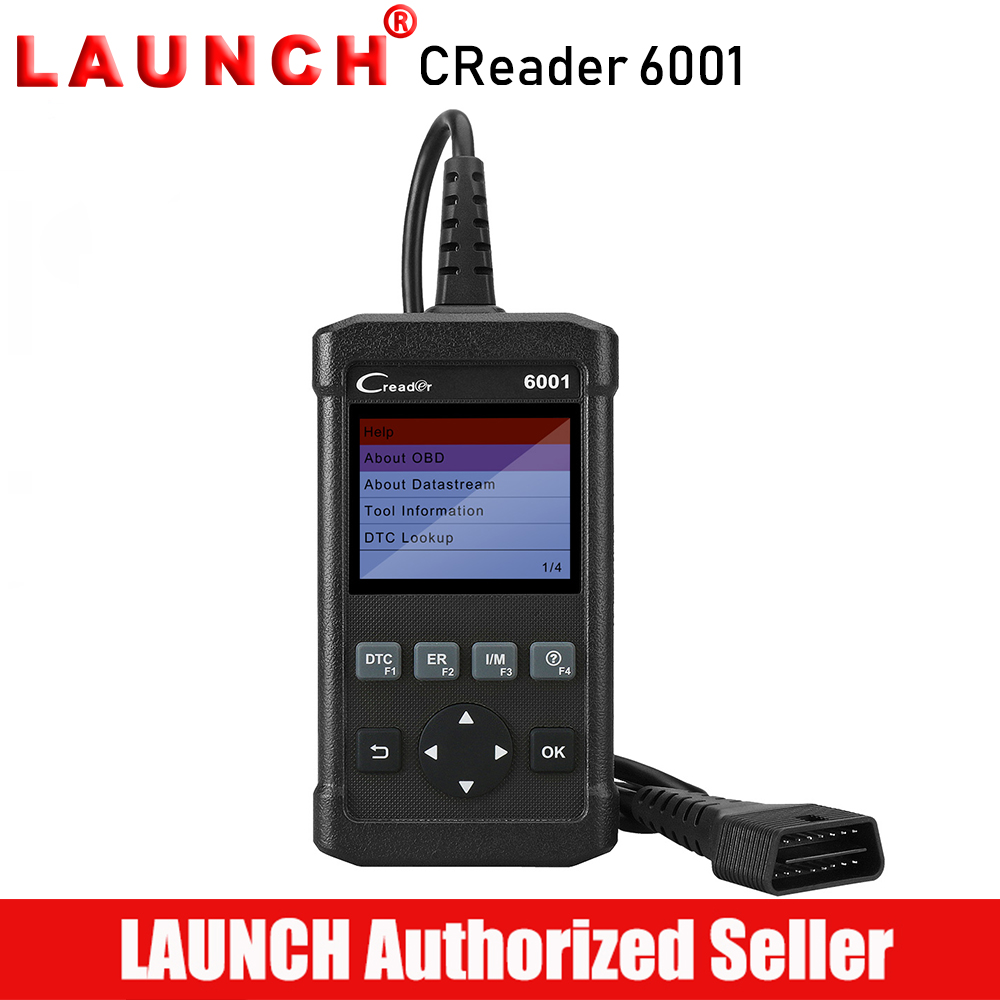 Launch Creader 6001 OBD2 Scanner Car Code Reader Scan Tool Full OBDII EOBD Diagnostic Clear Error Code Turn Off MIL car diy scanner launch creader 519 obd2 eobd code reader scanner read vehicle information car diagnostic tool free update online