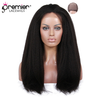 PREMIER Glueless Silk Top Lace Front Wigs Luxury Brazilian Virgin Hair Kinky Straight [SLFW B KS]