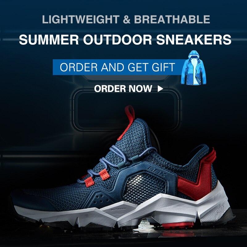 RAX кроссовки Для мужчин и Дамская Спортивная обувь дышащие легкие кроссовки Air сетчатый верх противоскользящие натуральный каучук подошва