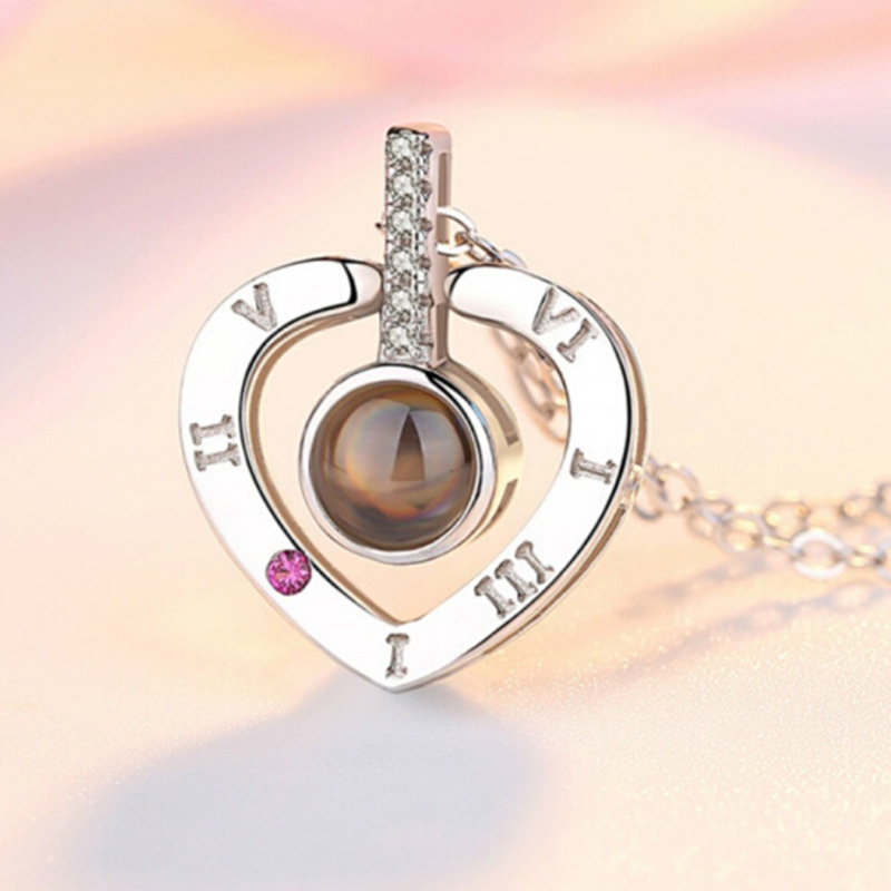 Romantic Love Memory Wedding Necklace Rose Gold&Silver