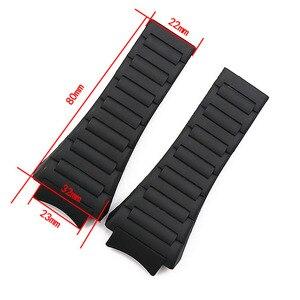 Image 2 - Men watch band watch accessories rubber strap women for porsche design 6620 sports waterproof watch belt