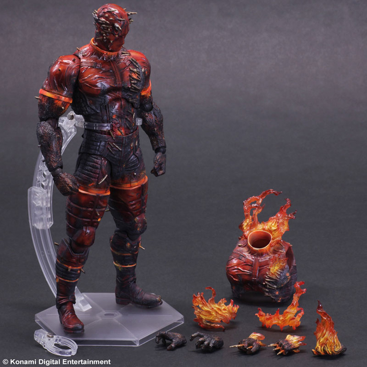 Play Arts KAI Metal Gear Solid V The Phantom Pain MAN ON FIRE PVC Action Figure Collectible Model Toy 1 6 scale model metal gear solid v the phantom d dog diamond dog about 23cm collectible figure model toy gift