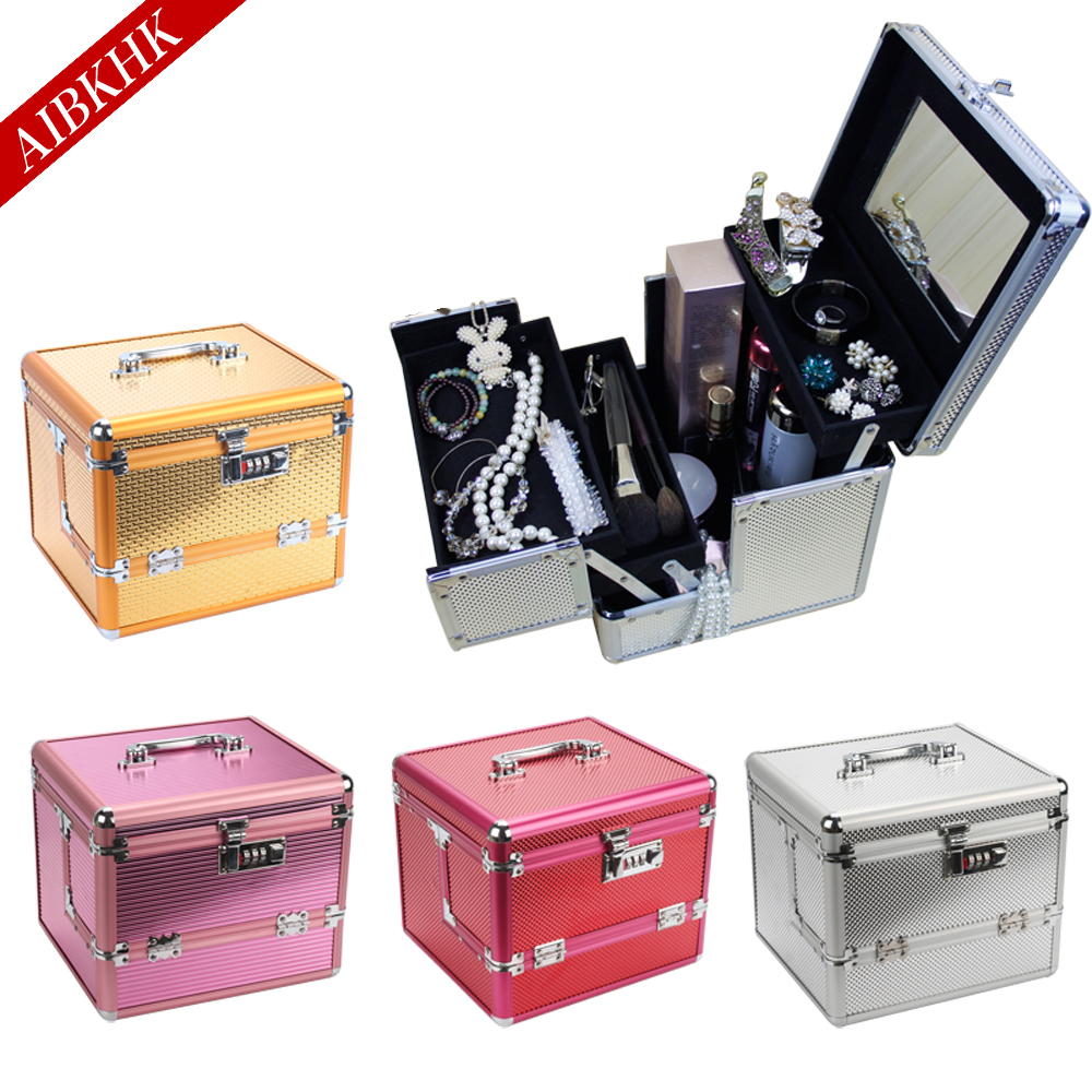 2017 Professional Makeup Bag Women Cosmetic Bags&Case High Quality Female Korean Makeup Box Large Capacity Travel Wash Bags wholesale high quality travel luggage cosmetic box male and female cosmetic bags on universal wheels multi purpose cosmetic case