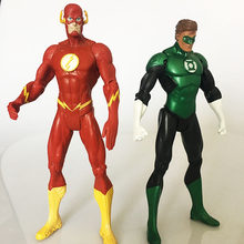 justice league Super Hero the Flash Man Green Lantern Action Figures Toys Collectible PVC Model Toy Christmas Gift For Kids N006(China)