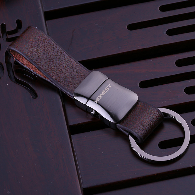 High Quality Brand Design Luxury Leather Keychain For Man Women Car Key Chain Key Ring Birthday Gift Key Holder