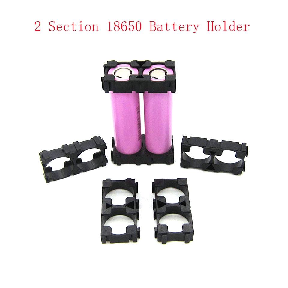 10 Pcs 2 Sections <font><b>18650</b></font> Battery Spacer Radiating Holder Bracket Electric Car <font><b>Bike</b></font> Toy image