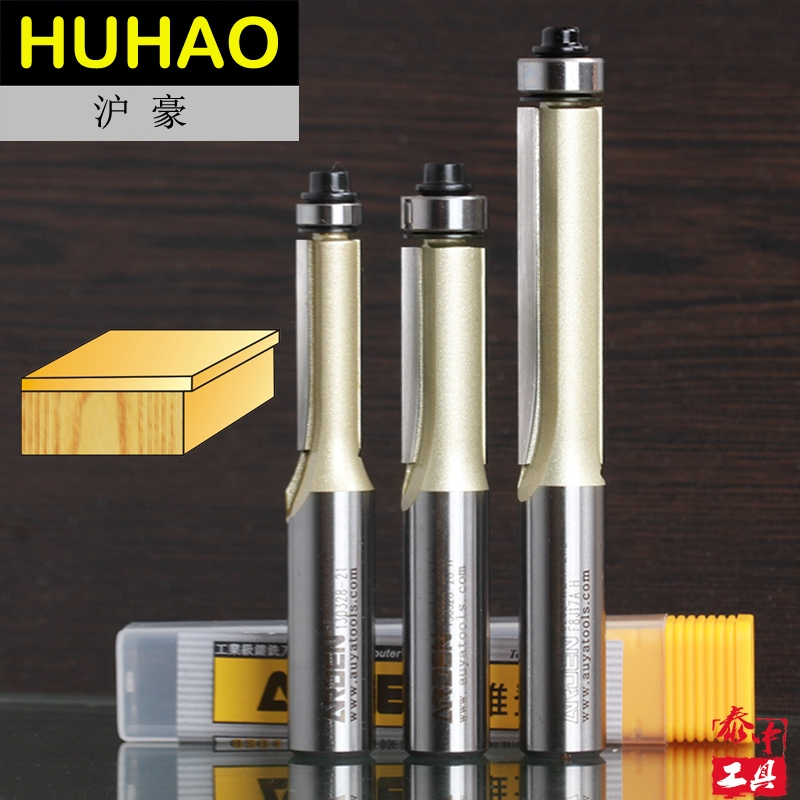 2 Flutes Professional Long Blade Flush Trim Arden Router Bit Long Straight Bit -  1/2*1/2*3 - 1/2 Shank - Arden A0202098 2 flutes straight carving cutter router bits metric cleaning bottom arden router bit 1 2 1 2 30mm shank arden a0118018
