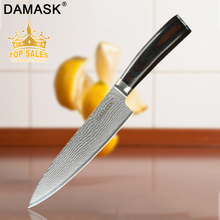 Damask High Grade VG10 Damascus Steel Kitchen Knives G10 Handle Paring Utility Santoku Chopping Slicing Chef