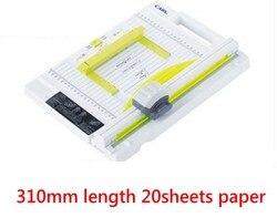2020 nowy ręczny obrotowy gilotyna do papieru trymer 310mm 20 arkuszy cięcie papieru i perforacja podwójna funkcja nowy projekt