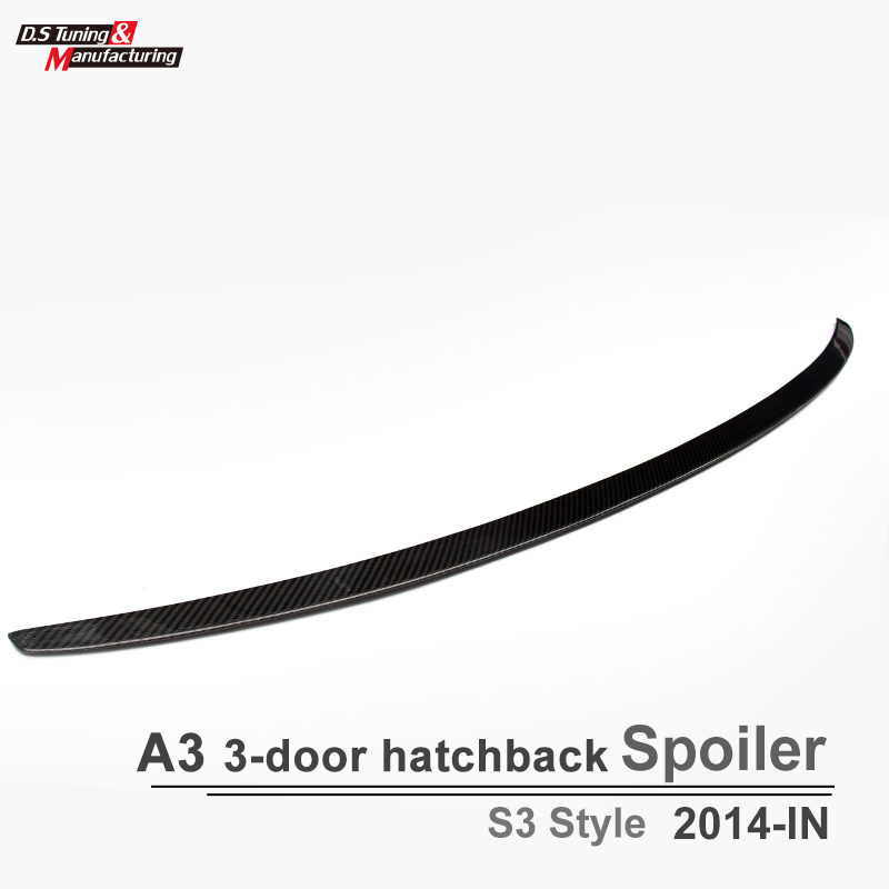A3 S3 Style Carbon Fiber Spoiler Rear Trunk Back Wing For Audi A3 2013 - IN 3-box Sedan Spoiler Wing Easy Install yandex w205 amg style carbon fiber rear spoiler for benz w205 c200 c250 c300 c350 4door 2015 2016 2017