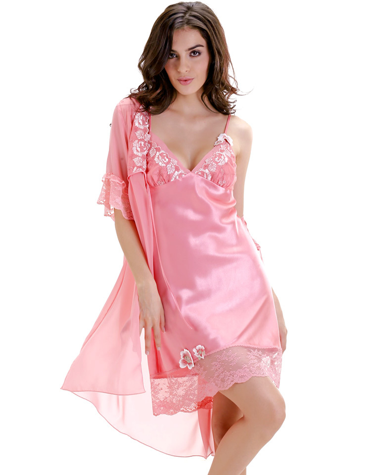 новый женщин белье пижамы халат искусственного шелка вышивки сексуальное кружево большой размер пижама костюм пятно халат халат