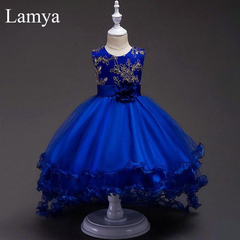 LAMYA Діти Квіткові дівчата одягу - Весільні вечірні сукні