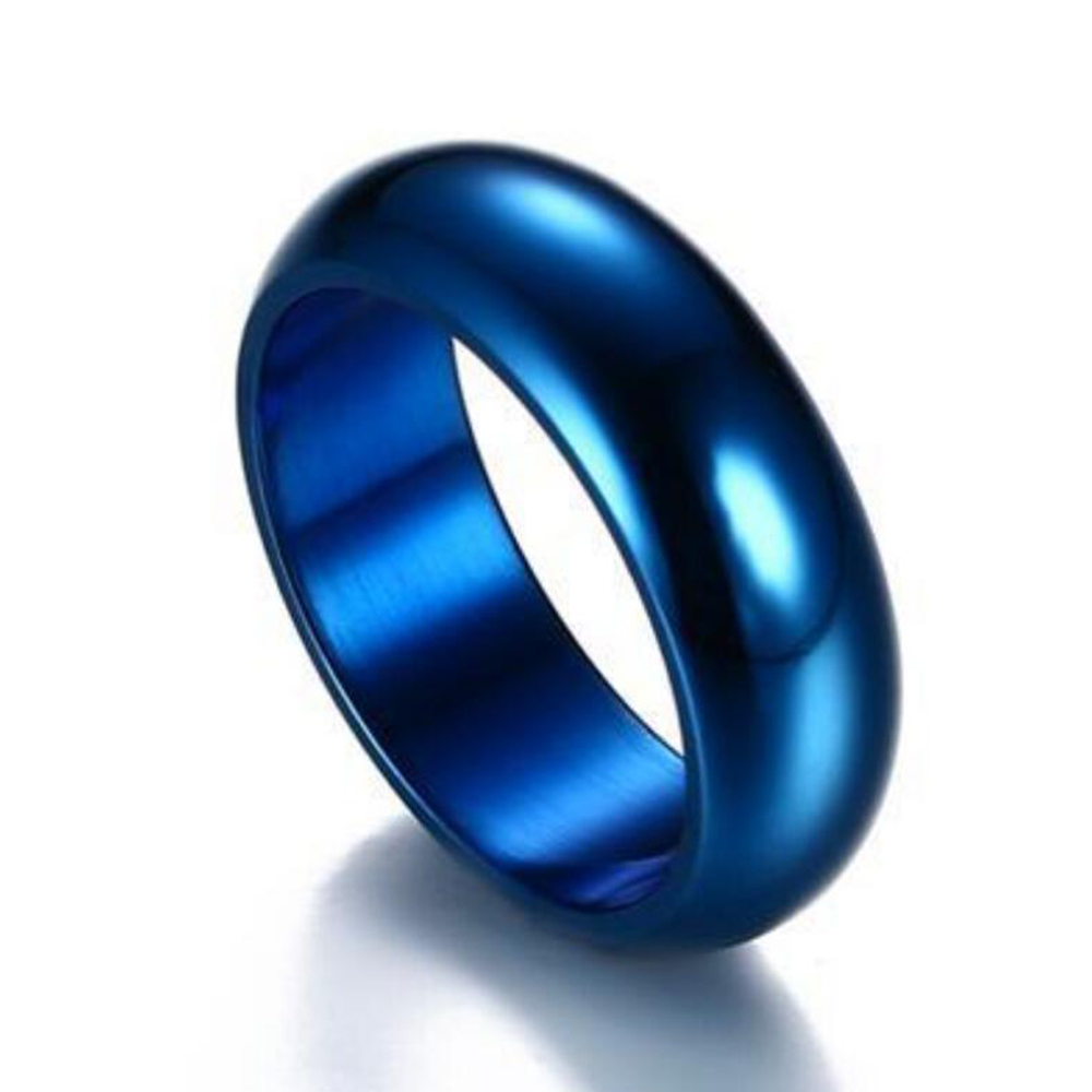 blue and hers product jewelry korean steel wedding rings band his piece stainless couple