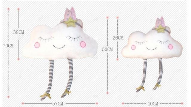 Cojín de peluche almohada juguete muñeca bebé guardería decoración niños regalo nueva cara de nube juguete