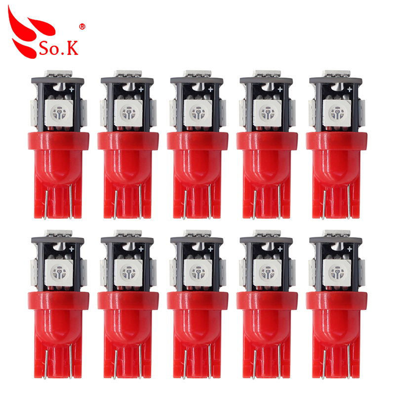 10X T10 LED light w5w 194 Filament Glass COB Interior Clearance Lamp Trunk Rear fog Bulb auto car new led 12V