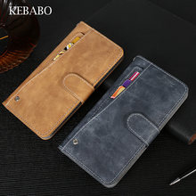 New Design! Prestigio Muze D3 Case Luxury Wallet Vintage Flip Leather Case Phone Protective Cover Card Slots(China)