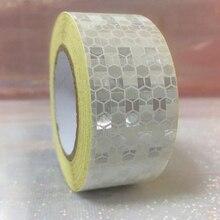 25mm x 5 m Veiligheid Mark Reflecterende Tape Stickers Auto Styling Zelfklevend Waarschuwing Tape Automobiles Motorfiets Reflecterende materiaal