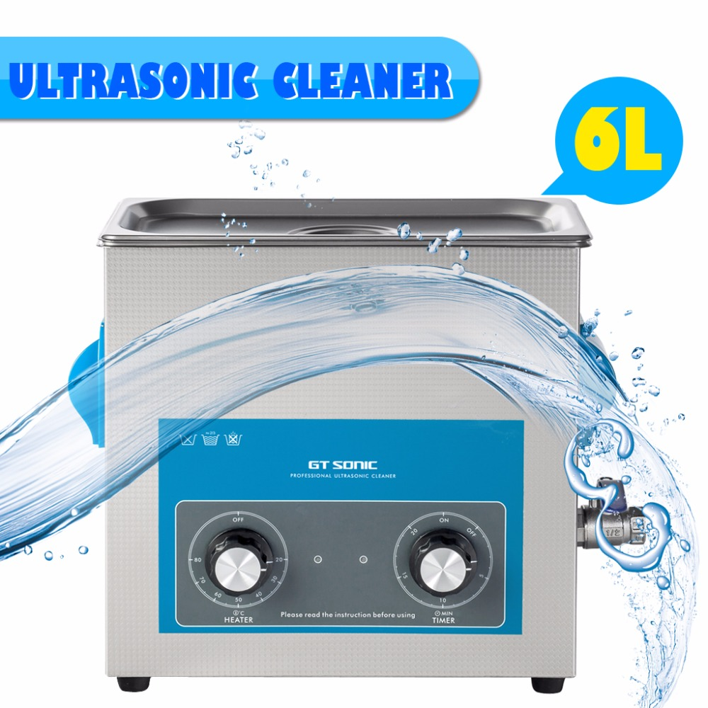 US $156 92 35% OFF|GT Sonic 6L VGT 1860QT Digital Display Ultrasonic  Cleaner Cleaning Appliances Bath Jewelry Watch Glasses Circuit Board-in