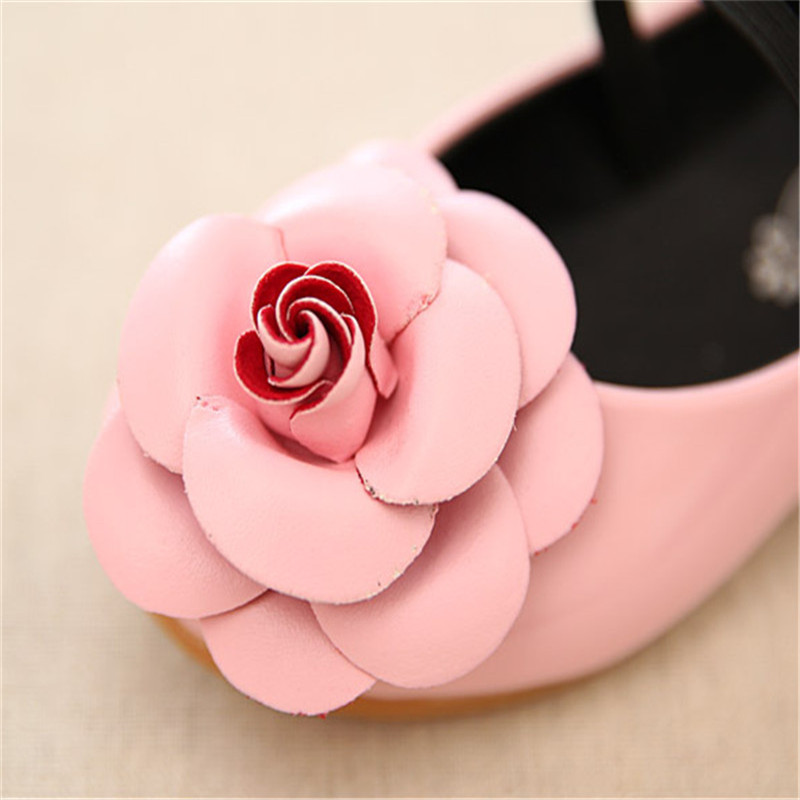 2018 new spring Children Shoes Girls Princess Cute Flower Pink Toddler Little Dance Designer Kids Shoes For Girls Size 21-36