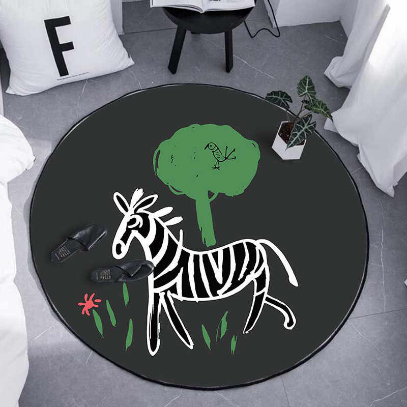 Творческий круглый коврик и ковры для детей Детские человек домой Гостиная декоративного искусства RV Спальня подушка для ванны двери WC коврики для ванной