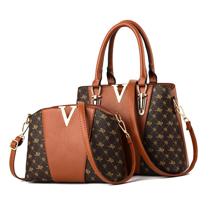 Women Bags Set 2 Pcs Leather Handbag Women Tote Bag Ladies Shoulder Bag for Women 2018 Messenger Bag Sac a Main 28