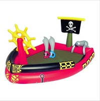 53041 Bestway Pirate Boat Inflatable Pool Baby Bath Basin Ball Play Ground 1.90mx1.40mx96cm Pirate Play Pool