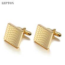Горячая Распродажа квадратные золотые запонки для мужчин leton