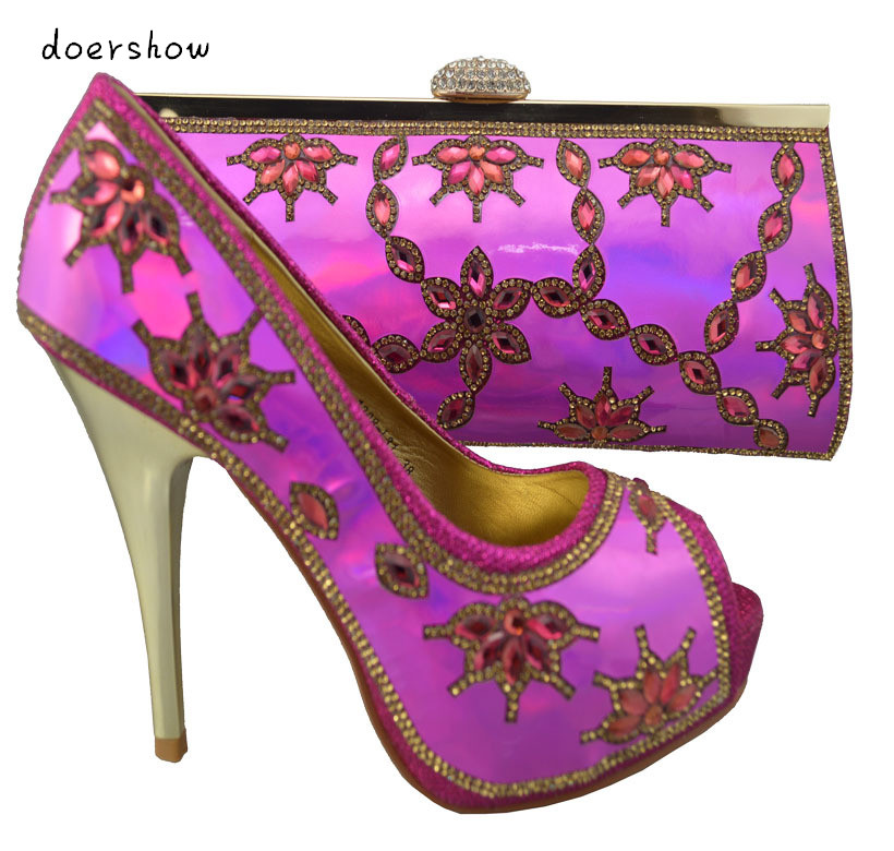African women high heel ,high quality,italian shoes and matching bags set with Free Shipping by DHL.doershow  ZX1-61 free shipping african women bags and shoes for wedding heels good quality italian shoes with matching bag me7705
