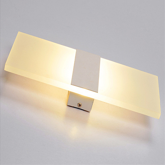 Acrylic Diffused Bedroom Wall Sconce LED Wall Decor Lighting 6W Indoor  Frosted Bedside Lamp AC90~