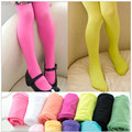 Girls female baby candy colored velvet pantyhose all-match breathable  dance