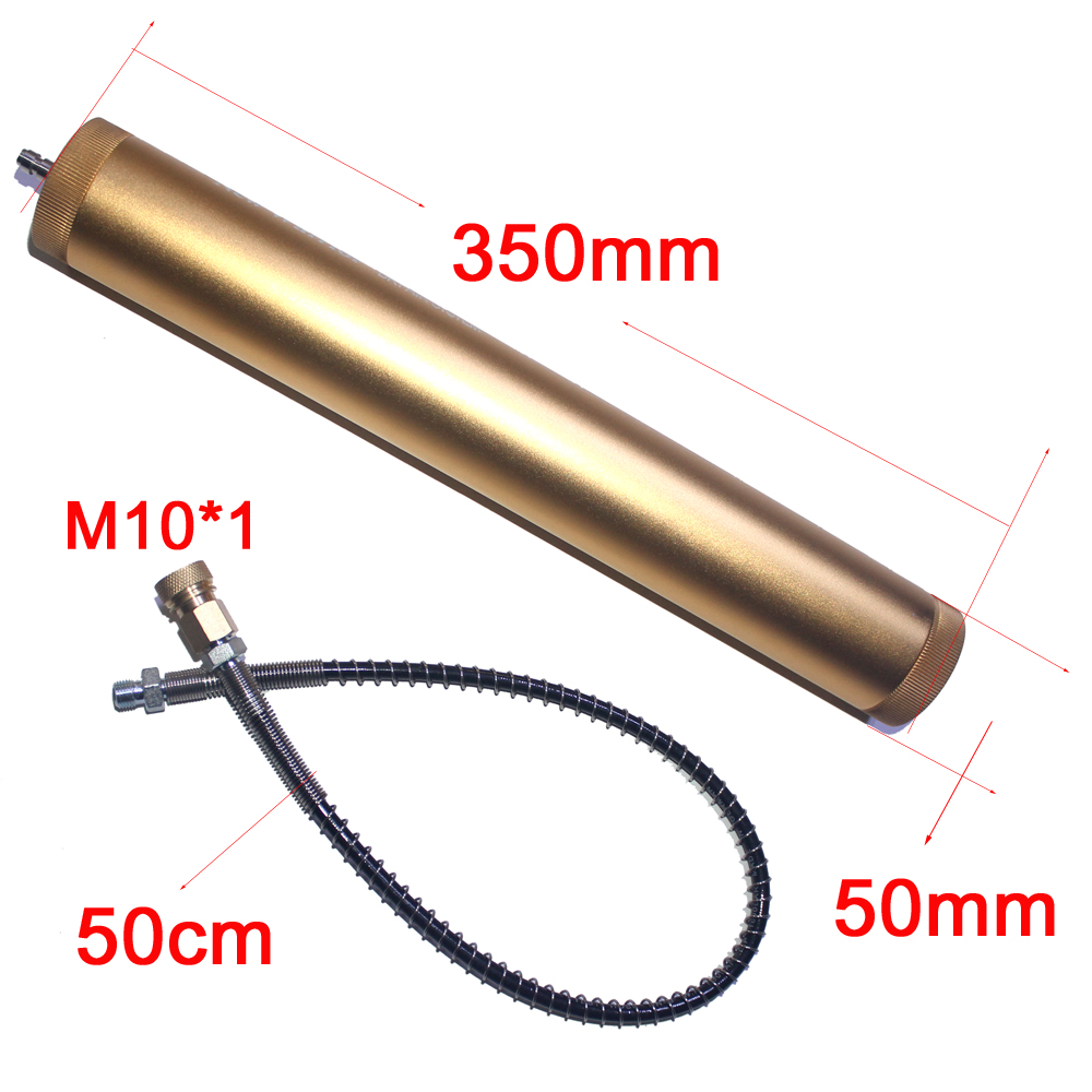 PCP Hand Pump Air Compressor oil water separator filter 30 mpa 4500psi 310bar L350mm*OD49mm