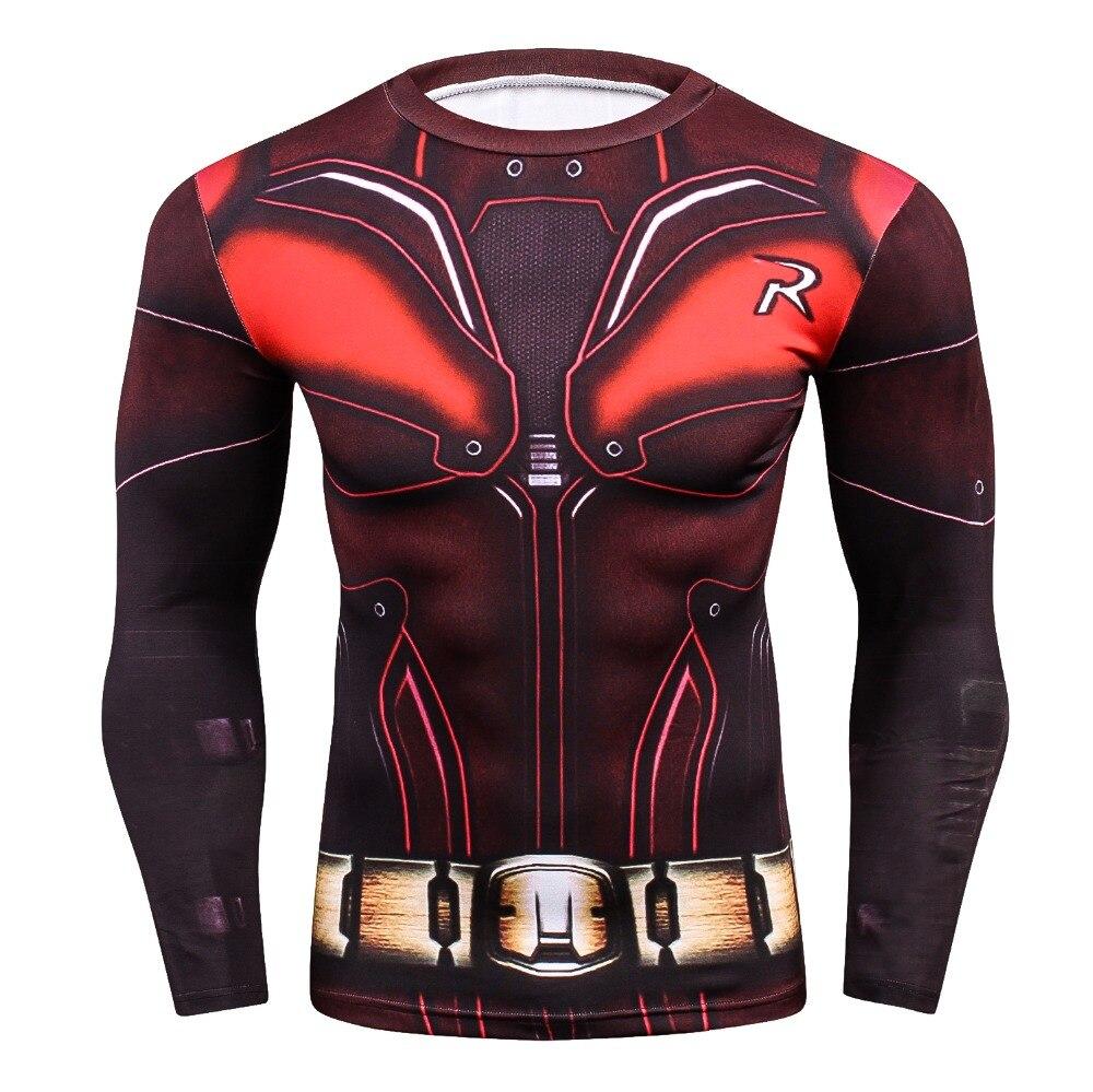 Superhero 3D Printed T shirts Men Compression Shirts 2018  Men's Bodybuilding Long-sleeved T Shirt