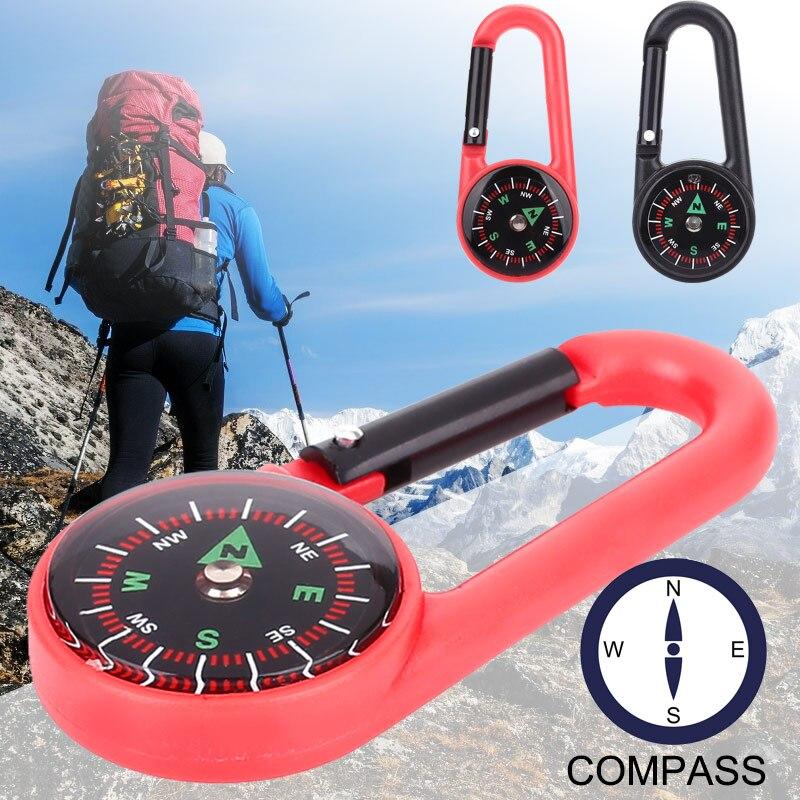 2 цвета компас навесной компас висячий портативный Карабин Крюк походный рюкзак альпинистская пластиковая прочная подвесная пряжка