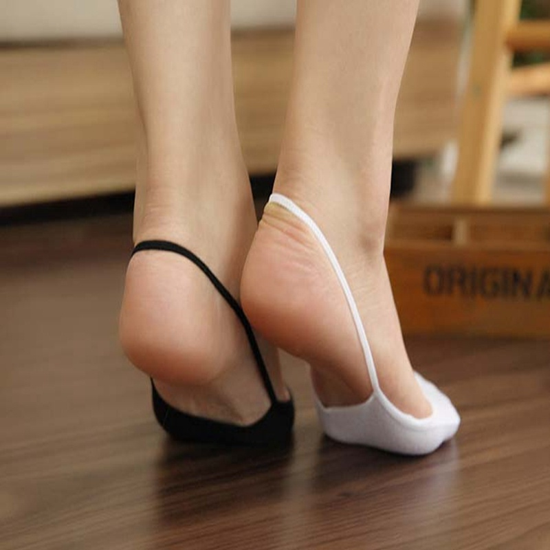 ... autumn shoes 45cfa 0b445 5 Pairs of Womens Slingback Toe Cover Topper Invisible  No Show Socks ... 79c8a087d8