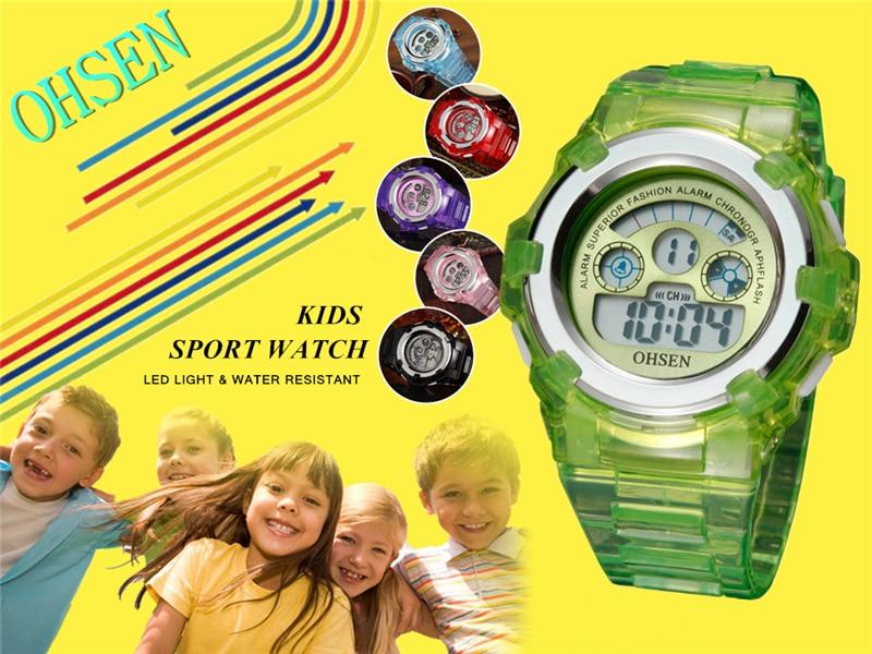 OHSEN Kids Watches Children Digital LED Fashion Sport Watch Cute Boys Girls Wrist watch Waterproof Gift Watch Alarm Kids Clock (7)