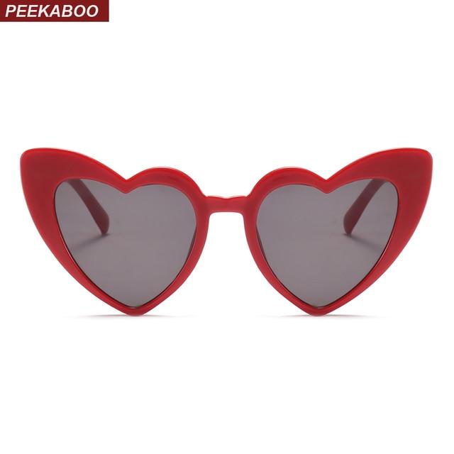 Coucou amour coeur lunettes de soleil femmes cat eye vintage cadeau De Noël  noir rose rouge c7ba0911bd50