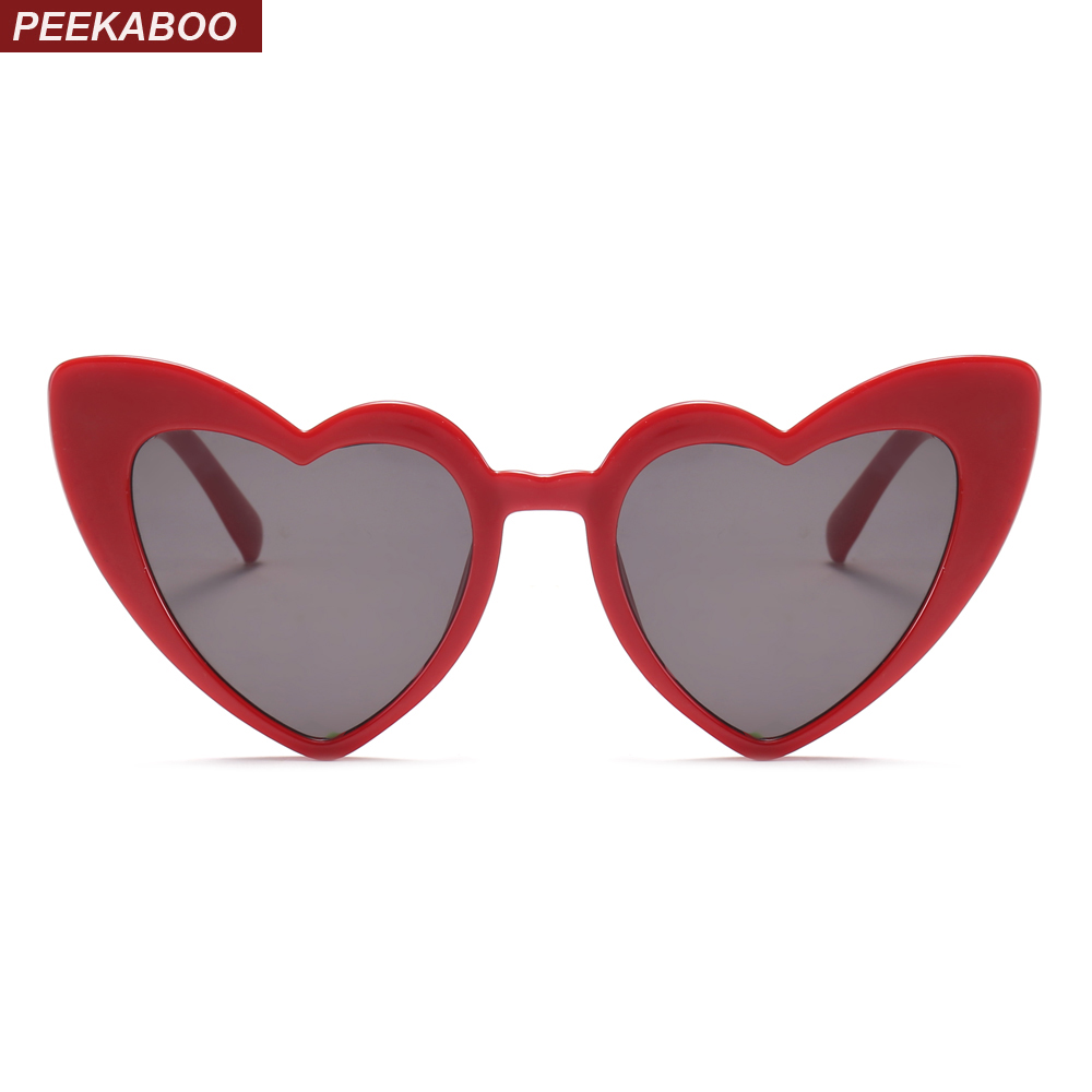Christmas Heart.Us 4 73 5 Off Peekaboo Love Heart Sunglasses Women Cat Eye Vintage Christmas Gift Black Pink Red Heart Shape Sun Glasses For Women Uv400 In Women S