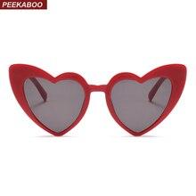 Peekaboo amor coração óculos de sol das mulheres presente de Natal preto  rosa vermelho da forma do coração do olho de gato do vi. 7d9212bc73