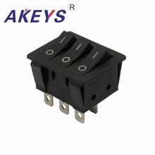 цена на 3PCS  KCD3-303-6P 6pins 2nd gear 33*40mm High life rocker switch