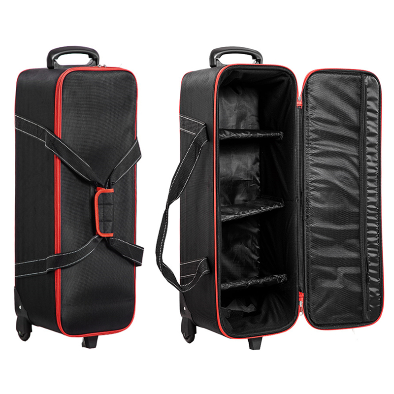 78cm Studio Photography Foto Strobe Flash Rolling Trolley Bag Case for Tripod Video Speedlite K150A 120SDI 300SDI <font><b>E300</b></font> kit CB-04 image
