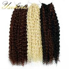 18 дюймов, вязанные крючком косички, афро волосы, синтетические, Омбре, косички, волосы для наращивания, блонд, черный, Марли, волосы