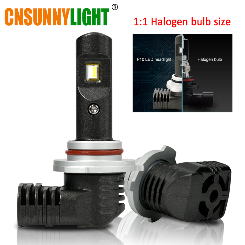 CNSUNNYLIGHT LED H11 H8 H16 H7 9005 9006 9012 Altra Mini Slim LED Car Headlight Lamp