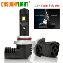 CNSUNNYLIGHT LED H11 H8 H16 H7 9005 9006 9012 Altra Mini Slim LED Car Headlight Lamp 6500K Cool White +200% Brighter Bulbs, Pair(China)