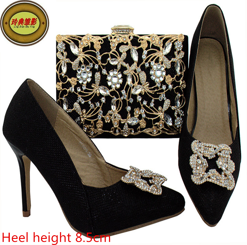 BL003 Wholesale Rhinestone African High Heel Sandals Shoes Matching Bag  Latest African Woman High Heels And Bag Set Online-in Women s Pumps from Shoes  on ... 08052822e6ea