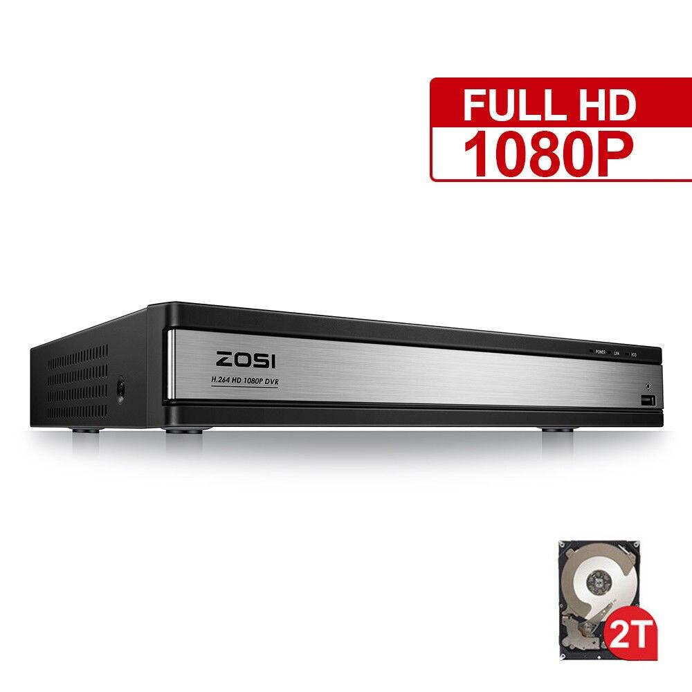 ZOSI HD 1080 P 16CH DVR Surveillance enregistreur vidéo H.264 P2P enregistreur DVR Téléphone Contrôle Pour Caméra de Surveillance Système de Sécurité