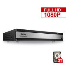 Zosi hd 1080p 16ch dvr gravador de vídeo, gravador de vídeo de vigilância h.264 p2p dvr, monitoramento do telefone para o sistema de segurança da câmera